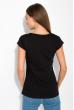 Принтованная женская футболка 147P016-15 черный