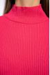 Гольф однотонный 607F006 ярко-розовый