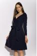 Классическое платье на запах 136P687 темно-синий