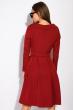Классическое платье на запах 136P687 бордовый