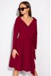 Классическое платье на запах 136P687 вишневый
