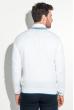 Кардиган мужской с воротником в полоску 50PD302 бело-голубой