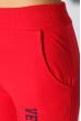 Брюки женские спортивные однотонные 360F005-2 красный