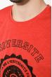 Футболка мужская с принтом 515F019 красный