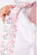 Кардиган женский с нежным цветочным принтом 148P352 бело-розовый
