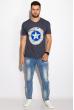 Футболка мужская 168F147 джинс