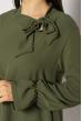 Кокетливое мини платье 640F005 хаки