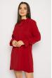 Кокетливое мини платье 640F005 бордо
