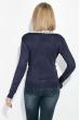 Кофта женская на пуговицах, с карманами 81PD02 темно-синий