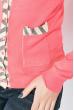 Кофта женская на пуговицах, с карманами 81PD02 коралловый