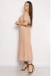 Однотонное платье со спущенными рукавами 632F014 пудровый