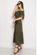 Однотонное платье со спущенными рукавами 632F014 хаки