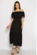 Однотонное платье со спущенными рукавами 632F014 черный