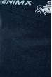 Джемпер с текстовым принтом 11P230 на флисе чернильный