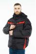 Куртка 157P131104 черно-красный