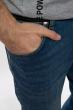 Джинсы с легкими потертостями 149PC24 синий
