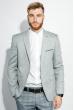 Пиджак мужской светлые оттенки 409F002 серо-синий