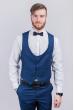 Жилет мужской под костюм мужской №276F022 темно-синий