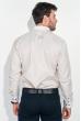 Рубашка мужская воротник и планка в клетку 50PD3144 капучино