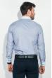 Рубашка мужская воротник и планка в клетку 50PD3144 серо-голубой