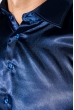 Рубашка мужская шелковая 50PD0091 темно-синий