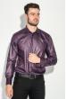 Рубашка мужская c запонками 50PD0020 темно-сиреневый