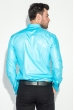 Рубашка мужская c запонками 50PD0020 бирюзовый