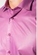 Рубашка мужская c запонками 50PD0020 фиолетовый