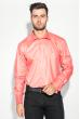 Рубашка мужская c запонками 50PD0020 коралловый