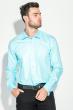 Рубашка мужская c запонками 50PD0020 морская волна