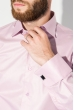 Рубашка мужская c запонками 50PD0020 темно-розовый