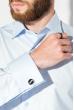 Рубашка мужская c запонками 50PD0020 светло-голубой