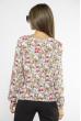 Блуза женская с цветочным принтом 118P021-6 малиново-молочный