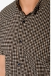 Рубашка 511F052 черно-бежевый