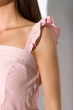 Костюм (топ на бретелях и юбка миди) 120PVC224 пудровый