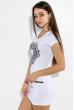 Туника женская с принтом, летняя  81P656 бирюзовый