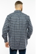 Рубашка в клетку 201P020 темно-синий / белый