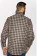 Рубашка в клетку 201P020 коричнево-белый