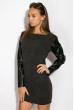 Платье 110P383-2 грифельный меланж