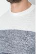 Джемпер мужской вязаный 138V001 бело-синий