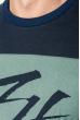 Джемпер мужской с принтами 361F014-1 темно-синий