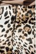Юбка женская с анималистичным принтом 68PD500 черно-бежевый