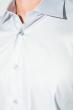 Рубашка мужская с контрастными запонками 50PD0060 светло-серый