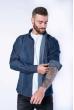 Рубашка джинсовая с декоративными строчками 644f127 темно-синий