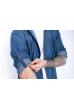 Рубашка джинсовая с декоративными строчками 644f127 синий