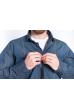 Рубашка джинсовая с декоративными строчками 644f127 сине-зеленый