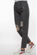 Джинсы женские рваные 162P005 серый