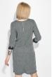 Платье (батал) с кружевом на рукаве 81PD341 черно-серый