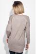 Туника женская с геометрическим узором на груди 619K005 бежево-серый