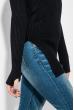 Туника женская базовая, приятная к телу, с вырезами на рукавах 619K006 черный